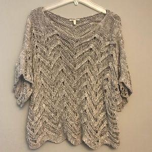 Eileen Fisher Open Knit Sweater Dolman Sleeve XL